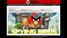 Hackers updated the Angry Birds website following news of its misuse by NSA