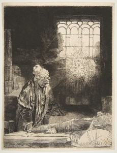 """Faust"" by Rembrandt, Metropolitan Museum of Art"