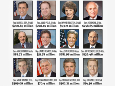 It's just not fair: only one of the Senate millionaires pictured here is a woman