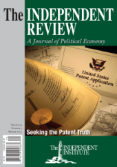Arthur M. Diamond makes his case for patent reform in the Winter 2015 issue of The Independent Review.