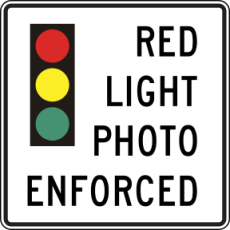 Red-light-photo-camera-sign