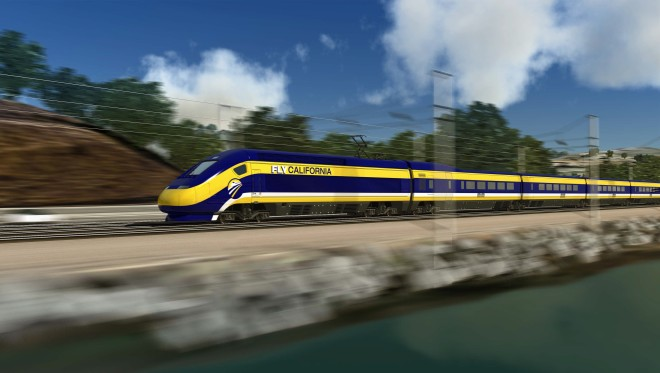 Artist's Rendering of CA high speed rail