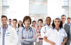 22854301 - portrait of medical center team, doctors, nurses.