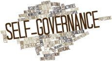 17020499 - abstract word cloud for self-governance with related tags and terms