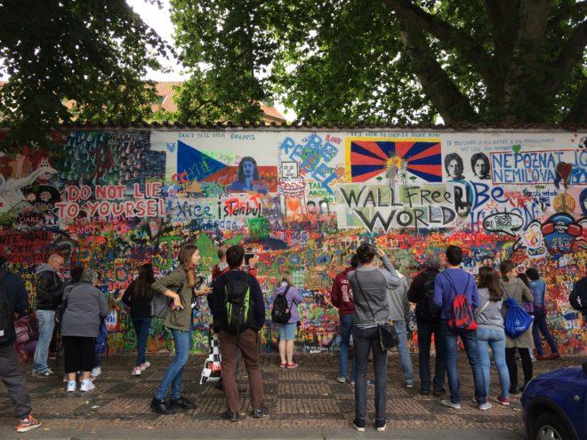 John Lennon Freedom Wall in Prague, Czech Republic