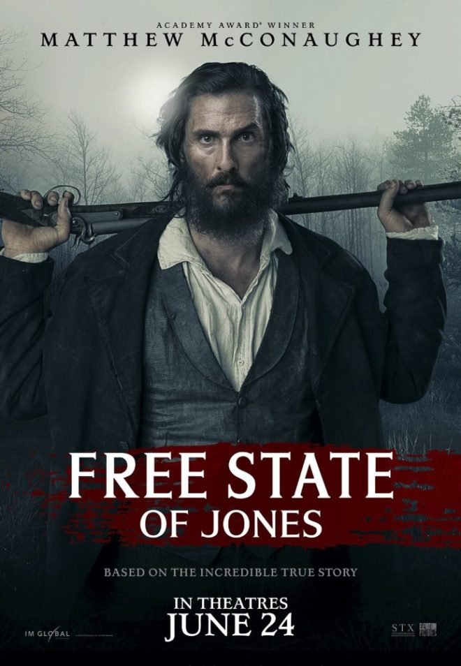 "Guns for self defense figure prominently in the Civil War period drama ""Free State of Jones"""