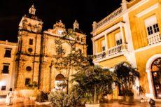 17653435 - cartagena de indias at night, colombia