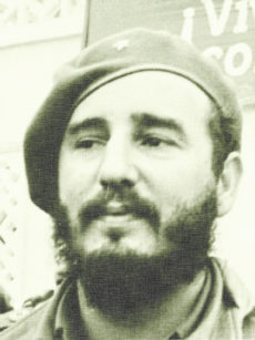 62871096 - portrait of fidel castro in yangiyer, uzbekistan, may 11, 1963.